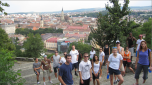 2009 Tour Team B poses in Cluj-Napoca, Romania